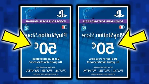 carte playstation store code illisible